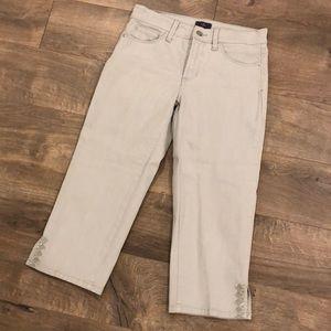 NYDJ Crop Pants Size 2 Gray